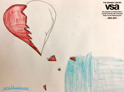 Student artwork submitted to the Kennedy Center's exhibition